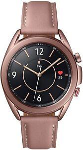 Samsung Galaxy Watch 3 LTE Bluetooth Wi-Fi GPS Mystic Bronze 41mm Leather Band