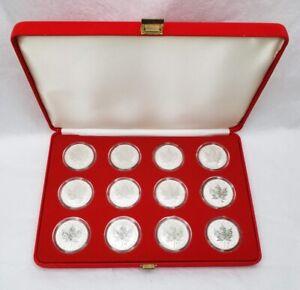 2004 Canada $5.00 1 oz Silver Maple Leaf .9999 Zodiac Privy Set Reverse Proof