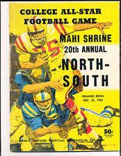 1965 12/25 North vs South All Star Football Game Program Miami Florida