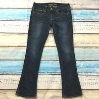"American Eagle Womens Jeans size 8 Dark Wash Skinny Kick x31"" ins Cotton Stretch"