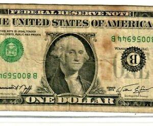 "$1 ""UPSIDE DOWN ERROR"" RARE!! 1974 $1 ""UPSIDE DOWN ERROR"" RARE!!!!! UPSIDEDOWN!!"