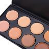 10 Colors Contour Face Cream Highlight Eye Shadow Makeup Concealer Palette Set