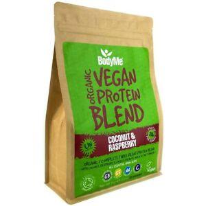 BodyMe Organic Vegan Protein Powder Blend COCONUT RASPBERRY 1Kg 3 Plant Proteins