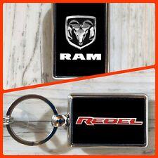 Dodge Ram Rebel Metal Double Sided Keychain Dodge Truck Accessories