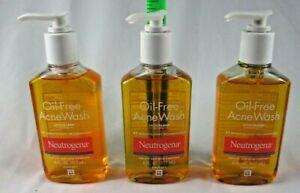 NEUTROGENA OIL-FREE ACNE WASH 6 OZ ea. Lot of 3. Expires 9/21. Free Shipping 735