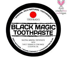 NATURAL MINERAL RICH COCONUT OIL CHARCOAL TOOTHPASTE * ORANGE & STAR ANISE OIL