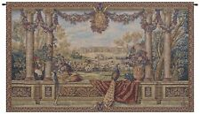 Peacock II Italian Jacquard Woven Tapestry Textile Art Wall Hanging Home Decor