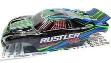 RUSTLER VXL Painted GREEN BODY shell (cover ProGraphix trimmed rtr Traxxas 3707