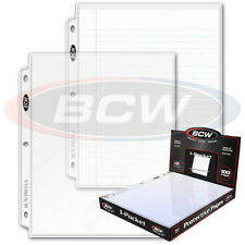 20 - 1 Pocket 8 1/2 x 11 Photo Page Sheet Protector Pro1A BCW for 3 ring binders