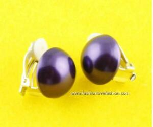 1 Pair Clip On Faux Pearl Button Stud Earrings 9 Colors,18mm or 20mm