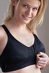 Anna Cecilia Breastfeeding Bra Zipper Sosten  Band Size 38,B Whites Cotton Blend