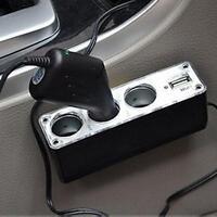 Car Cigarette Lighter Multi Socket Splitter 3 Way USB Charger Adapter DC PK