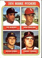 1974 TOPPS #605/VIC ALBURY/KEN FRAILING RC/KEVIN KOBEL RC/FRANK TANANA RC