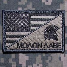 Molon Labe Usa American Flag Us Isaf Army Morale Tactical Acu Light Velcro Patch
