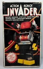 KAMCO VTG 80's ACTION ROBOT INVADER 12'' ROBOT B/O NEEDS REPAIR MIP UNUSED