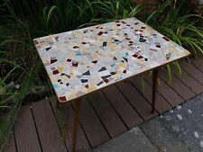 Mid Century Mosaik Tisch 50er Beistelltisch Messing Table 50s