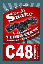 1 Turbohefe Double Snake C48 Alcotec bis 21% Gärhefe Weinhefe Brennhefe