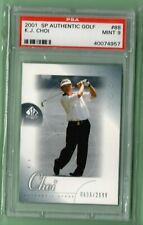 K.J. Choi UD 2001 Tour Swatch SP Authentic Golf PSA 9 MINT Serially #/