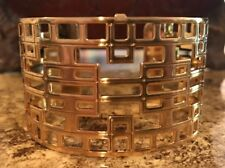 BRIGHTON CHRISTO LYON GOLD Wide CUFF  Bracelet New Without Tag/box