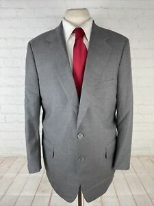 Tom James Men's Grey Solid Suit 44R 36X29 $1,098
