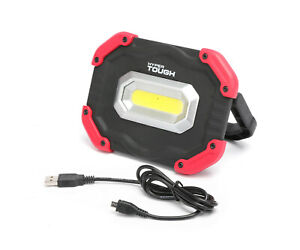 Hyper Tough 1200-Lumen RECHARGEABLE LED WORK LIGHT 3-Modes: High & Low & Flash