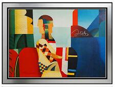 MAX PAPART Original Aquatint Signed Cubism Portrait Artwork Carborundum Concerto