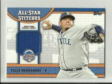 2013 Felix Hernandez Topps All-Star Stitches Workout Jersey Card - Mariners
