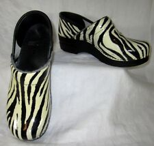 Dansko Womens Clogs 38 (US 7.5-8) Zebra Professional Nursing Shoes