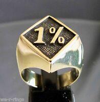 1% Bikers Patch Ring Polished BRONZE  BB02/B