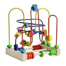 Fajiabao Bead Maze Wooden Toy Roller Coaster Colorful Abacus Circle Kids Toy NEW
