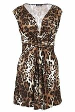 Unbranded V Neck Clubwear Animal Print Dresses for Women