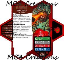 Heroscape Custom Dungeons & Dragons TYRANT BEHOLDER Double-SidedCard
