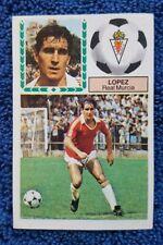 LOPEZ ERROR SIN PEGAR - liga 83 84 ediciones este 1983 1984 cromos futbol