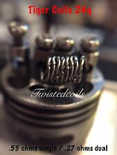 Tiger Wire Coils (30 Pack) (Clapton Alien Twisted Micro Rda Vape Coils) + Cotton