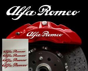 Red Alfa Romeo Calliper Stickers Heat Proof Decals  Buy One Set Get One Free