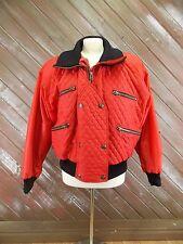 OSSI Skiwear Jacket Coat Ski Winter Snow Ladies Red/Black Size M Vintage