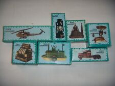 Vintage Die-Cast Minature Pencil Sharpeners With Antique Finish Lot of 7.