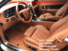 Fully Tailored Terracotta Leather Carmats fit Bentley Continental GT III 2018-
