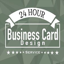 Business Card Design, Cheap/Fast/Reliable, Unlimited Revisions, 24HR Service