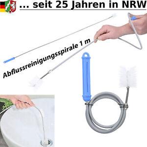 Abflussreiniger Rohrbürste Abflussfrei Rohr Abfluss Siphon Bürste Spirale Haare