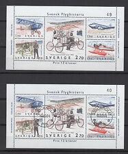 Suède Sverige1984 2 feuillets neuf oblitéré histoire de l'aviation Suédoise/T742