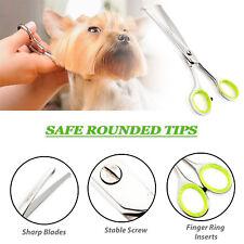 Tijeras de aseo para mascotas perro de seguridad nariz orejas Ojos Patas nuevo Reino Unido