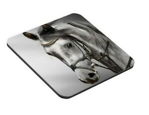 2x horse - cheval   coaster personalised