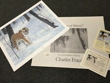 """Charles Frace EMPEROR OF SIBERIA (Tiger) 1992 Stamp >30"""" S/# lithograph ed 3600"""