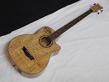 DEAN Exotica Quilt Ash acoustic electric 4-string BASS guitar Natural EQA EQABA