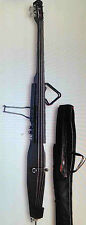 """STAGG EDB-3/4 """"MAKE OFFER"""" BLACK ELECTRIC DOUBLE BASS NEW"""