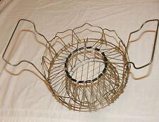 Basket changing shape RARE, 1950's METAL BASKET decorative and functional
