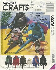 McCalls 6279 Lounge Lizards ~ Large Stuffed Reptiles Sewing Craft Pattern