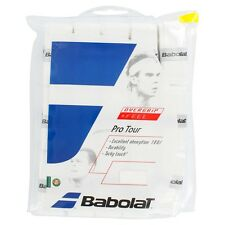 30 LOT DE BABOLAT PRO TOUR TENNIS OVERGRIP GRIP , BLANC ÉGALEMENT POUR PADEL