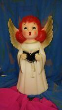 "Rare Vintage Christmas 14"" Lighted Blow Mold Choir Girl Angel Table/Yard Decor"